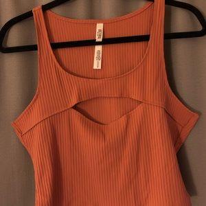 VS sport crop top (orange) - never worn